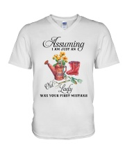 I Am Just An Old Lady V-Neck T-Shirt thumbnail
