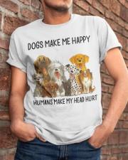 Dogs Make Me Happy Classic T-Shirt apparel-classic-tshirt-lifestyle-26