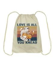 Love Is All You Knead Drawstring Bag thumbnail