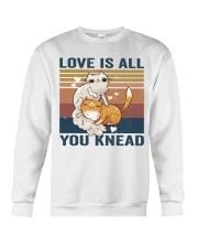Love Is All You Knead Crewneck Sweatshirt thumbnail