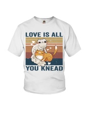 Love Is All You Knead Youth T-Shirt thumbnail