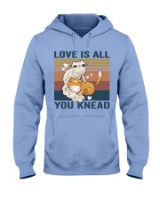 Love Is All You Knead Hooded Sweatshirt front