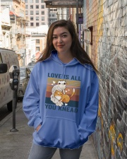 Love Is All You Knead Hooded Sweatshirt lifestyle-unisex-hoodie-front-1