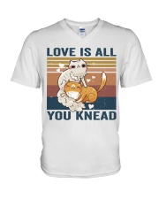 Love Is All You Knead V-Neck T-Shirt thumbnail