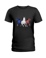 Horse American Ladies T-Shirt thumbnail