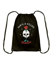 She Is A Killer Queen Drawstring Bag thumbnail