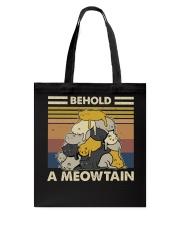 Behold A Meowtain Tote Bag thumbnail