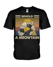 Behold A Meowtain V-Neck T-Shirt thumbnail