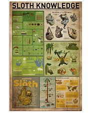 Sloth Knowledge 11x17 Poster front