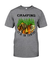 Camping It's In Tennis Classic T-Shirt front