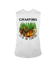 Camping It's In Tennis Sleeveless Tee thumbnail