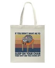Sleep On Your Chair Tote Bag thumbnail