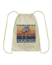 Sleep On Your Chair Drawstring Bag thumbnail