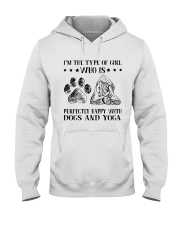 Dogs And Yoga Hooded Sweatshirt front