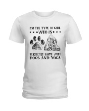Dogs And Yoga Ladies T-Shirt thumbnail