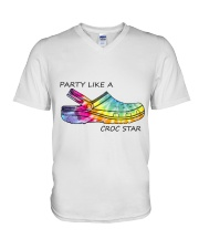 Party Like A Croc Star V-Neck T-Shirt thumbnail