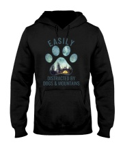 Dogs And Mountains Hooded Sweatshirt thumbnail