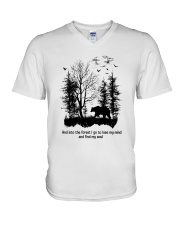 Into The Forest Camping V-Neck T-Shirt thumbnail