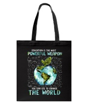 Education Is The Most Powerful Tote Bag thumbnail