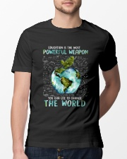 Education Is The Most Powerful Classic T-Shirt lifestyle-mens-crewneck-front-13