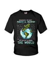 Education Is The Most Powerful Youth T-Shirt thumbnail