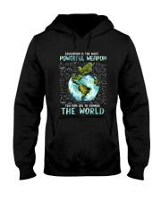 Education Is The Most Powerful Hooded Sweatshirt thumbnail