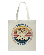 Solid As A Croc Tote Bag thumbnail