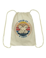 Solid As A Croc Drawstring Bag tile