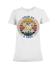 Solid As A Croc Premium Fit Ladies Tee thumbnail