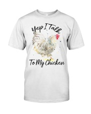 Yep I Talk To My Chicken Premium Fit Mens Tee tile