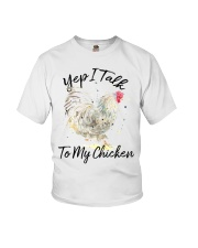 Yep I Talk To My Chicken Youth T-Shirt tile