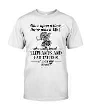 Elephants And Had Tattoos Classic T-Shirt front