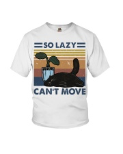 So Lazy Can't Move Youth T-Shirt thumbnail