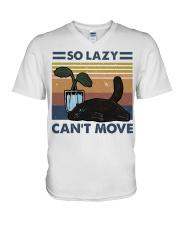 So Lazy Can't Move V-Neck T-Shirt thumbnail