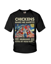 Chickens Make Me Happy Youth T-Shirt thumbnail