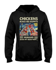 Chickens Make Me Happy Hooded Sweatshirt thumbnail