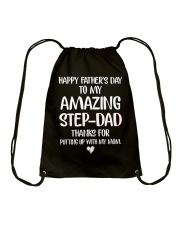 Amazing Step Dad Drawstring Bag thumbnail