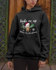 Wake Me Up When Its Christmas Hooded Sweatshirt apparel-hooded-sweatshirt-lifestyle-front-03