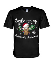 Wake Me Up When Its Christmas V-Neck T-Shirt thumbnail
