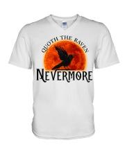Quoth The Raven Nevermore V-Neck T-Shirt thumbnail