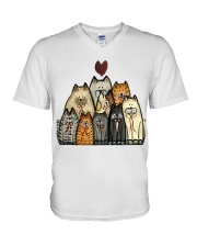 Love Cat V-Neck T-Shirt tile