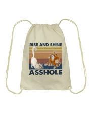 Rise And Shine Asshole Drawstring Bag thumbnail