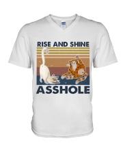 Rise And Shine Asshole V-Neck T-Shirt thumbnail