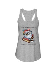 Coffee Owls And Books Ladies Flowy Tank thumbnail