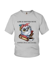 Coffee Owls And Books Youth T-Shirt thumbnail