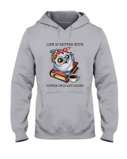 Coffee Owls And Books Hooded Sweatshirt thumbnail