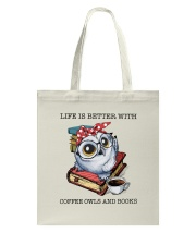 Coffee Owls And Books Tote Bag thumbnail
