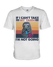 If I Can't Take My Yarn V-Neck T-Shirt thumbnail