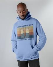 Crocs And Socks Hooded Sweatshirt apparel-hooded-sweatshirt-lifestyle-front-09