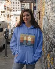Crocs And Socks Hooded Sweatshirt lifestyle-unisex-hoodie-front-1